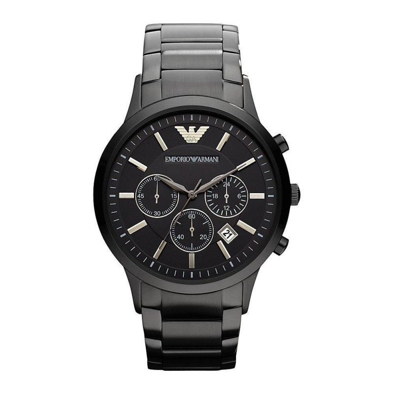 Armani Men's AR2453 Classic Black Stainless Steel Watch