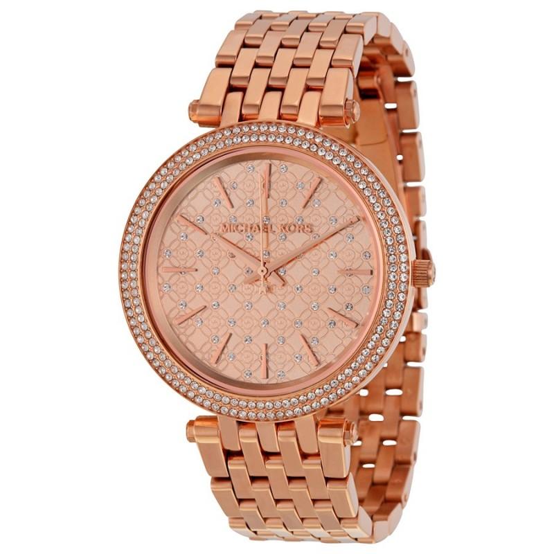 Michael Kors Women S Darci Rose Gold Tone Stainless Steel Bracelet Watch Mk3399