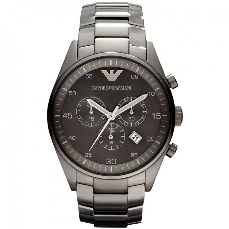 Armani Men's Sportivo AR5964 Grey Chronograph Watch