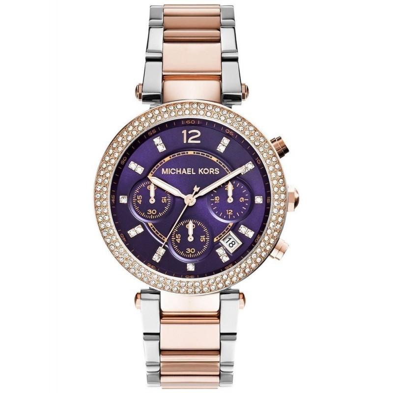 49b915f38485 Michael Kors Women s Watch Chronograph MK6108 Purple Dial - MadMax Oklok