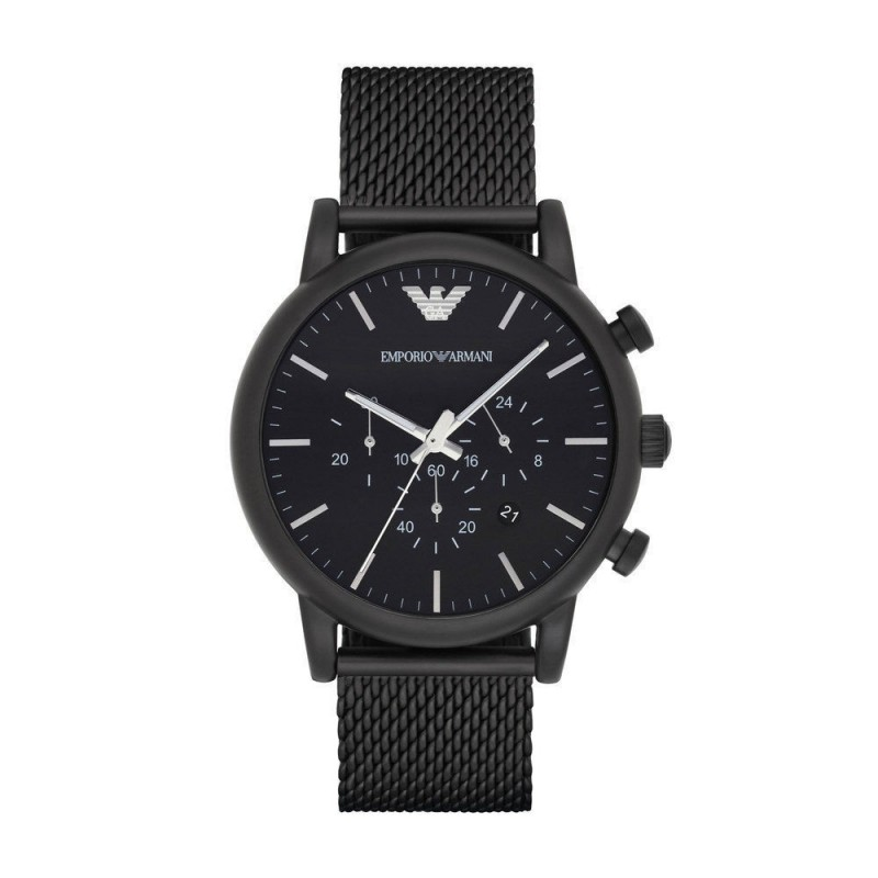Emporio Armani AR1968 Mens Renato Black Steel Mesh Watch